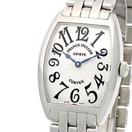 Franck Muller Cintreé Curvex Stainless Steel Watch