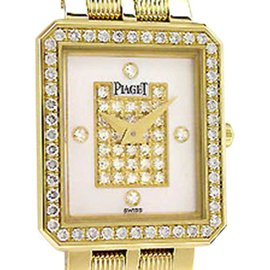 "Piaget Diamond ""Protocole"" 18K Yellow Gold Womens Watch"