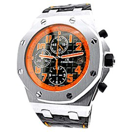 "Audemars Piguet ""Royal Oak Offshore Volcano"" Chronograph Stainless Steel Watch"