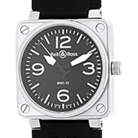 "Bell & Ross ""BR 01-92"" Stainless Steel Strap Watch"