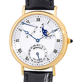 "Breguet ""Classique Power Reserve"" 18K Yellow Gold Strap Watch"