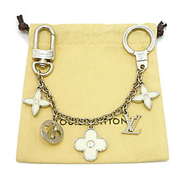LOUIS VUITTON Acetate/Zamak Chain Fleur De Epi Bag Charm Key Holder