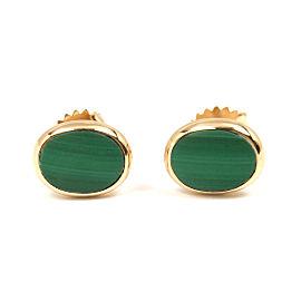 Tiffany & Co. 14K Yellow Gold Malachite Stud Earrings