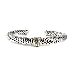 David Yurman Cable 18K Yellow Gold, Sterling Silver Diamond Bracelet
