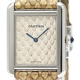 CARTIER Tank Solo Python Steel Quartz Ladies Watch W5200020
