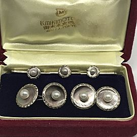 Mikimoto Sterling Silver Cufflinks