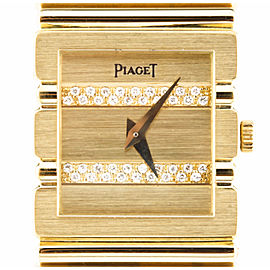 Piaget Polo Quartz Watch Solid 18k with Diamond Dial & Original Box 438813