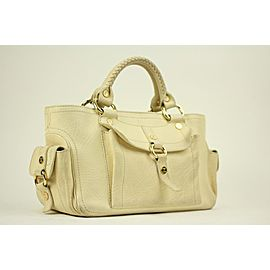Céline Boogie Ivory Ce02 Cream Leather Satchel