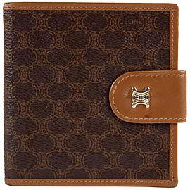 Céline Brown Monogram Macadam Bifold Wallet 11CEL1221