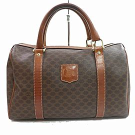 Céline Macadam Boston Duffle 872161 Monogram Brown Coated Canvas Weekend/Travel Bag