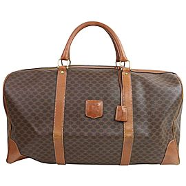 Céline Macadam Boston Duffle 872318 Monogram Brown Coated Canvas Weekend/Travel Bag