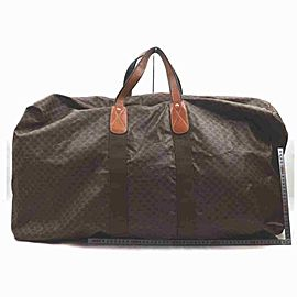 Céline Macadam Boston Duffle Extra Large Monogram 860068 Dark Brown Coated Canvas
