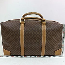Céline Macadam Boston Duffle Extra Large Monogram 871737 Brown Coated Canvas Weekend/Travel Bag