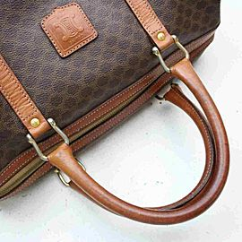 Céline Macadam Boston Duffle Monogam Triomphe 860050 Brown Coated Canvas Weekend/Travel Bag