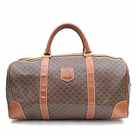 Céline Céline Macadam Boston Duffle Monogram 869224 Brown Coated Canvas Weekend/Travel Bag