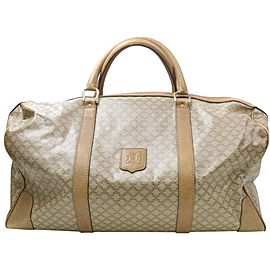 Céline Macadam Boston Duffle Monogram 871709 Beige Coated Canvas Weekend/Travel Bag