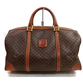 Céline Macadam Boston Duffle Monogram 871799 Brown Coated Canvas Weekend/Travel Bag