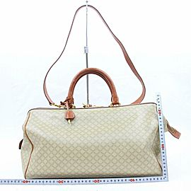 Céline Macadam Boston Duffle Monogram with Strap 870708 Beige Canvas Weekend/Travel Bag