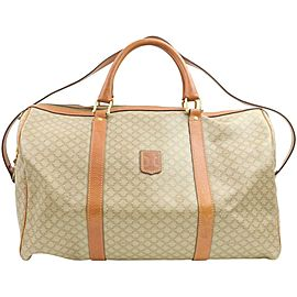 Céline Macadam Boston Duffle Monogram with Strap 870941 Beige Coated Canvas Weekend/Travel Bag