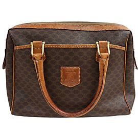 Céline Macadam Boston Monogram 871186 Brown Coated Canvas Weekend/Travel Bag