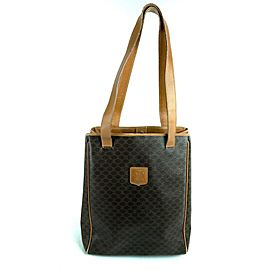 Céline Macadam Cabas Monogram Convertible Shopper Tote 5ce611 Brown Coated Canvas Hobo Bag