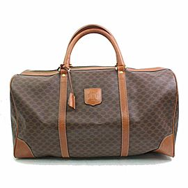 Céline Macadam Boston Duffle Monogram 870635 Brown Coated Canvas Weekend/Travel Bag