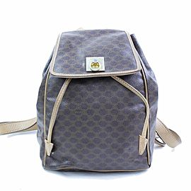 Céline Macadam Monogram 866775 Brown Coated Canvas Backpack