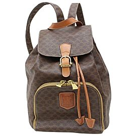 Céline Macadam Monogram Mini 871534 Brown Coated Canvas Backpack