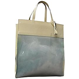 Céline Naked Clear Shopper Translucent 239717 Blue Vinyl Tote