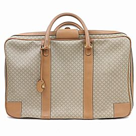 Céline Luggage Micro Gg Monogram Logo Suitcase 870268 Brown Coated Canvas Weekend/Travel Bag