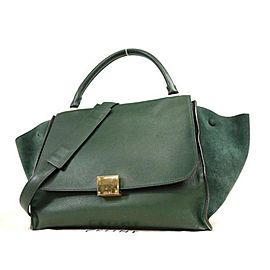 Céline Trapeze Cel Trapeze-232953 Dark Green Leather X Suede Weekend/Travel Bag