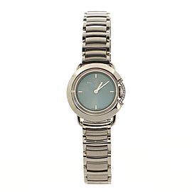 Tiffany & Co. Limited Edition T Round Quartz Watch Stainless Steel with Diamond Crown Guard 25