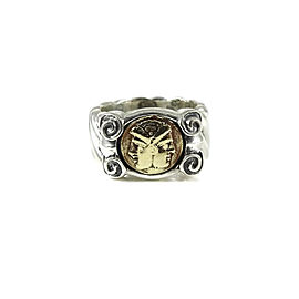 Frederica Sterling Silver 18K Yellow Gold Janus Double Faced Ring