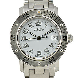 HERMES Clipper diver CL5.210 White Dial SS Quartz Ladies Watch