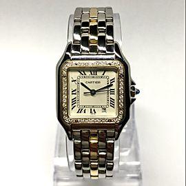 CARTIER PANTHERE 27mm Quartz 18K Yellow Gold & Steel DIAMOND Watch