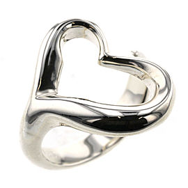 TIFFANY & Co Silver925 Open heart Ring TBRK-516