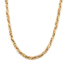 18k Gold Cut Ball Chain Necklace