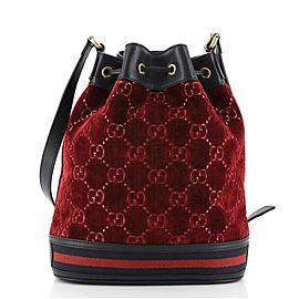 Gucci Bucket Bag GG Velvet Medium