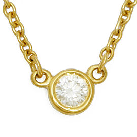 TIFFANY&Co. 18K yellow Gold Diamond Necklace CHAT-352