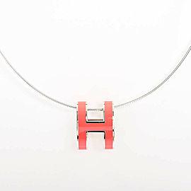 HERMES Silver/palladium Pop ash Necklace