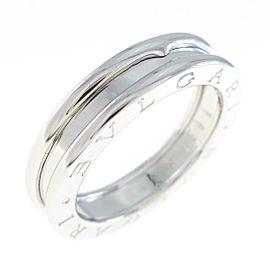 BVLGARI 18K White Gold B.zero1 1 Band Ring