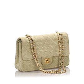 Classic Medium Nubuck Leather Double Flap Bag