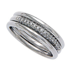 Scott Kay 950 Platinum with Diamond Band Ring Size 8.25