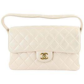 Chanel 222329 Rose Beige Lambskin Leather Shoulder Bag