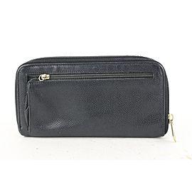 Chanel Black Caviar CC Logo Zip Around Wallet Long Zippy L-Gusset 623cas616