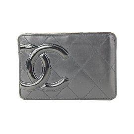 Chanel Black Quilted Cambon Ligne Card Holder Wallet Case 679cas618