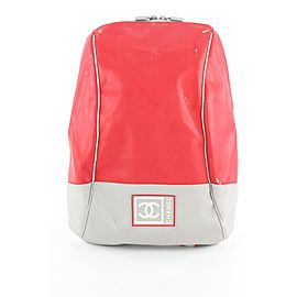 Chanel Red Sports Logo CC Backpack 920cas414
