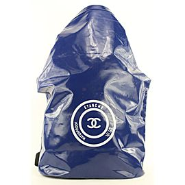 Chanel Blue Waterproof CC Sports Jumbo Backpack 118ccs23