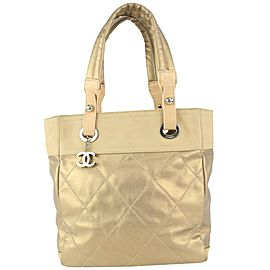 Chanel Quilted Gold Biarritz Shopper Tote Bag 98cas52