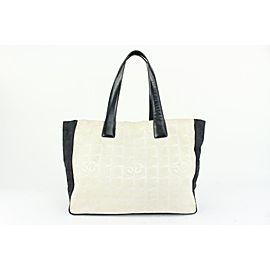 Chanel Bicolor White x Black New Line Shopper Tote bag 917cas32